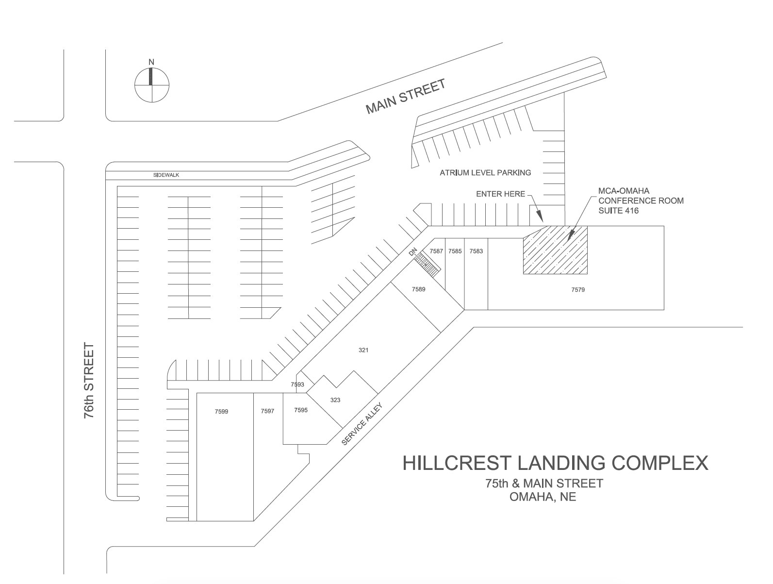 MCA Parking Map